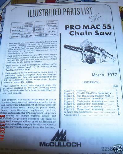 Mcculloch Pro Mac 610 Manual Pdf